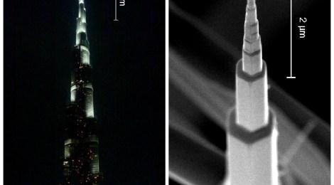 Burj Khalifa, el nanohilo