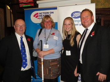 Left to Right: Alistair Burt MP, my friend Sue, myself, Paul Breckell- CEO of AOHL