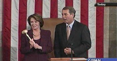 Pelosi surrenders gavel to Boehner