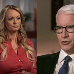 Stormy Daniels and Anderson Cooper