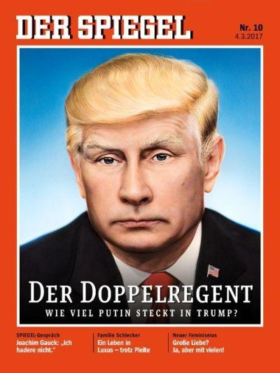 Trump-Putin Der Spiegel cover