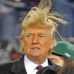 Trump crazy hair
