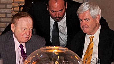 Sheldon Adelson (right) with Newt Gingrich (left)