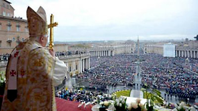 The pope's Easter blessing received a tepid welcome this year