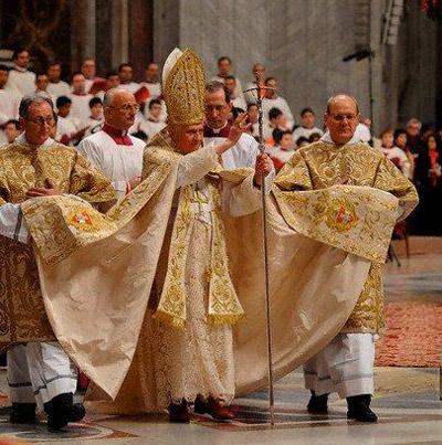 Full papal pomp