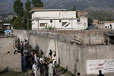 Bin Laden's compound in Abbottabad, Pakistan