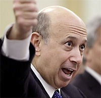 Goldman Sachs Group, Inc., Chairman and Chief Executive Officer Lloyd Blankfein testifies before the Senate in April 2010