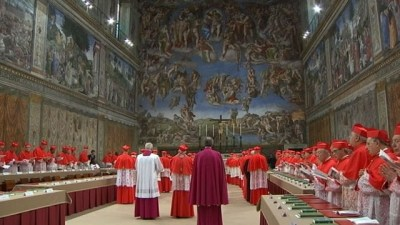 cardinals in sistine chapel