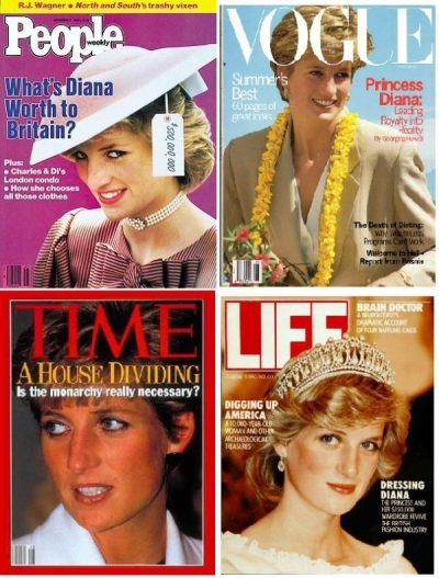 Diana on magazine covers
