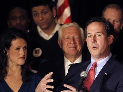 Foster Friess with Rick Santorum