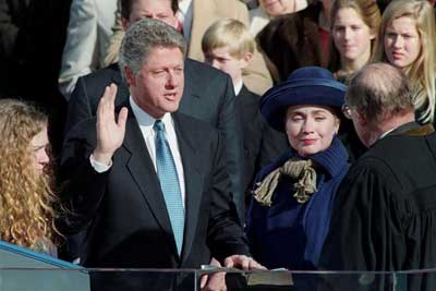 Bill and Hillary Clinton, Inauguration Day 1993