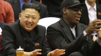 Kim Jong-Un with Dennis Rodman