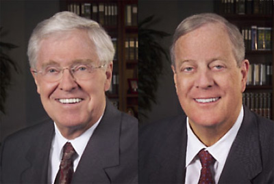 Charles and David Koch, bankrollers of the teaparty movement