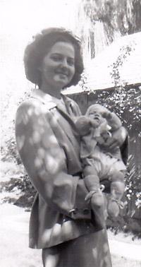 Lorraine with Alex, 1960
