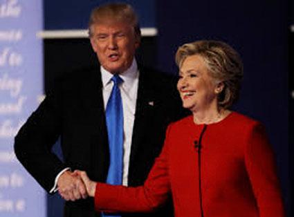Trump and Clinton, making nice