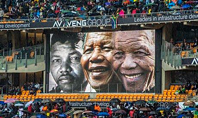 The Mandela memorial service