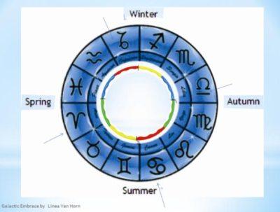 Quartered Zodiac Hoop