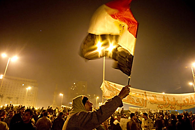Protestors in Tahrir Square, Cairo