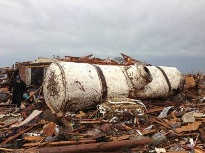 ten-ton tank moved by tornado