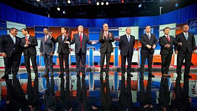 Trump amid debate field