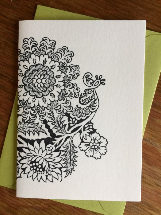 Floral Dover Illustration card
