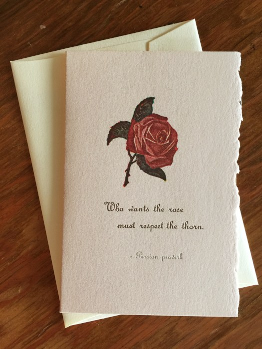 Proverbial Rose card