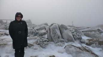 A frosted Mt Wellington