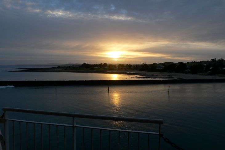 Morning arriving in Devonport