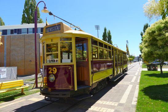 A fully restored tram - go for a (short) ride