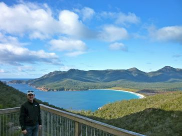Stephen at Wineglass Bay lookout