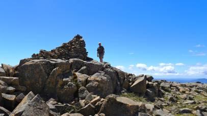 Summit cairn on Legges Tor