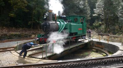Turning the steam engine