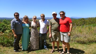 Our group at Grey Sands Vineyard