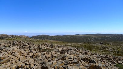 View south-west across the plateau