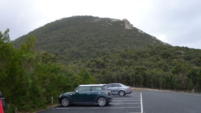Telegraph Saddle Carpark below Mt Oberon