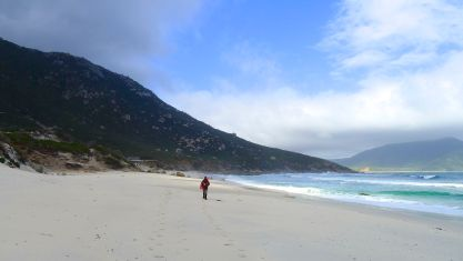 Stephen at Little Oberon Bay