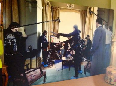An image of the crew filming - love the blue shoe covers