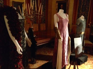 Dresses in the dining room