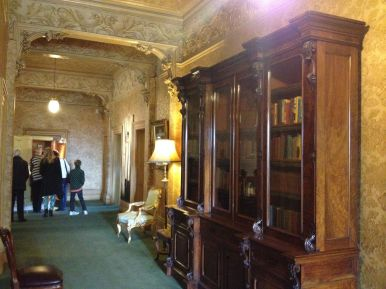 Upstairs hallway in the mansion