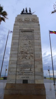 Memorial column, landward-side