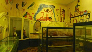Egyptian room - with sarcophagus