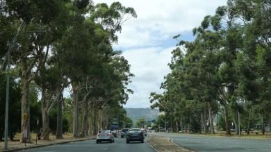 Leaving Adelaide - surrounding park & hills
