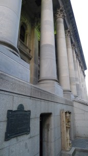 South Australia's Parliament House - A royal lion hiding off to the side of the main steps