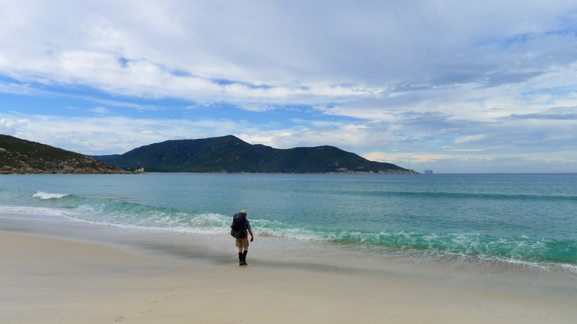 On the beach at Little Oberon Bay