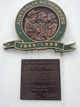 National Australia Remembers Freedom Wall Plaque