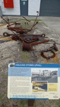 There used to be a flying fox to haul supplies up the hill from the dock at east landing