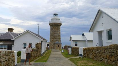 Looking down the main path to the lighthouse