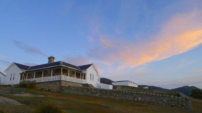 Looking up at the Lighthouse Keepers Cottage