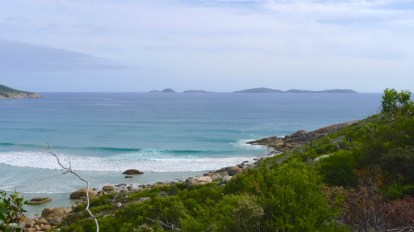 3/13 Looking out across Oberon Bay to Great Glennie Island & the Glennie Island group