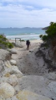 8/13 Approaching Little Oberon Bay Beach (from the south)